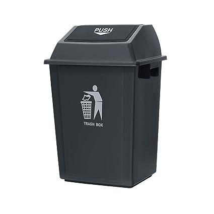 WQEYMX Bote de Basura al Aire Libre Caja de Columpios casa jardín Cocina Basura Reciclaje plástico