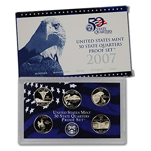 - 2007 S U.S. Mint Proof State Quarter Set - 5 Coins - OGP Original Government Packaging Superb Gem Uncirculated