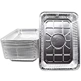 (30 Pack) Weber Grills Compatible Model 6416 Drip Pans l Size 13'' x 9'' x 2'' l Perfect Aluminum Foil Fit for Weber Spirit, Genesis Charcoal Grills. Holds Meat, Dishes, and for Indirect Grill Cooking
