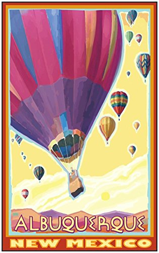 Albuquerque New Mexico Hot Air Balloons Travel Art Print Poster by Joanne Kollman (24
