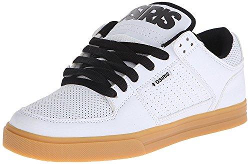 局復活母Osiris Men's Protocol Skate Shoe White/Gum 7.5 M US [並行輸入品]