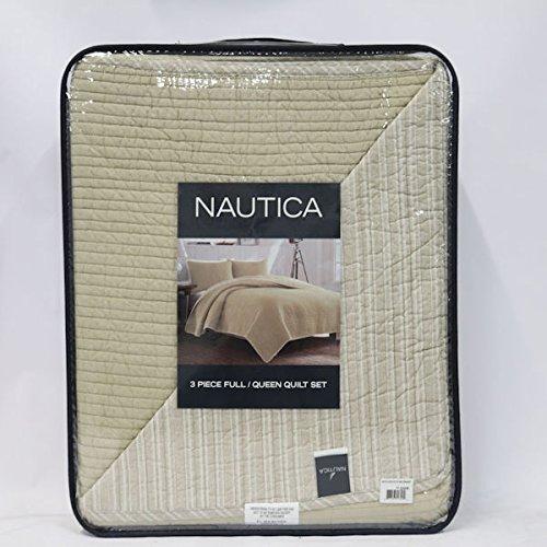 Nautica 3 Piece Full/Queen Quilt Set in Ivory - Nautica Queen Comforter