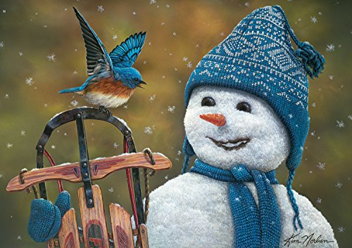 Buffalo Games Snow Brother By Kim Norlien Jigsaw Puzzle From The Holiday Collection (300 Pieces)