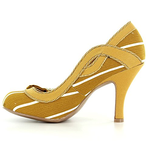 Yellow Court Shoes Shoo White Miranda Heels Womens Ruby OYxEqw