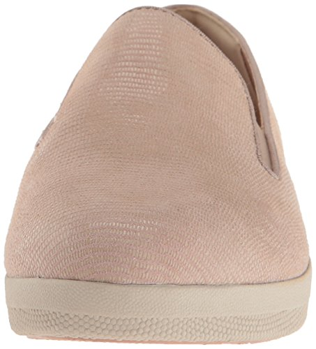 FitFlop Damen Superskate Lizard-Print Wildleder Loafer Flat Nude Pink