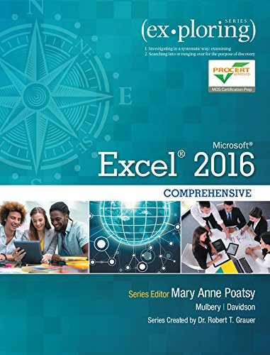 Pdf Computers Exploring Microsoft Office Excel 2016 Comprehensive (Exploring for Office 2016 Series)