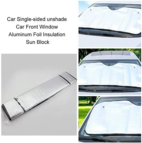 Bigherdez Pare-Soleil Simple Face Pare-Soleil pour Voiture Couverture Pare-Brise pour fen/être en Aluminium Aluminium Pare-Soleil Argent