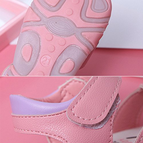 Zhhlaixing Baby Summer Anti-slip Toddler Cute First Walkers Shoes Lighted Soft-Soled Sandals Pink