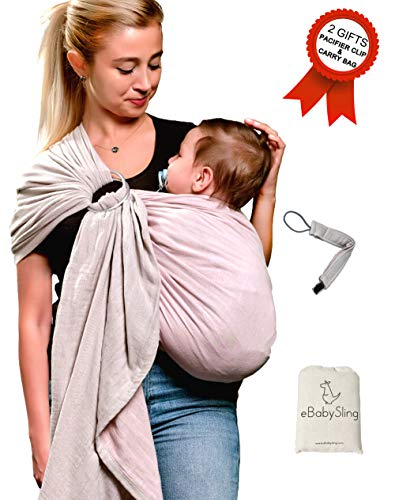 Ring Sling Baby Wrap CarrierUSA CPSC Lab ApprovedPacifier Clip Carry Bag Gift