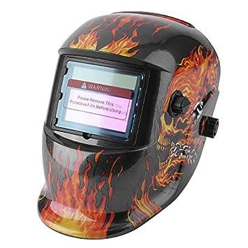 Sairis Solar Power Oscurecimiento automático Rango de Sombra Ajustable TIG MIG MMA Máscara de Soldadura eléctrica Casco Casquillo de Soldadura Diseño de ...