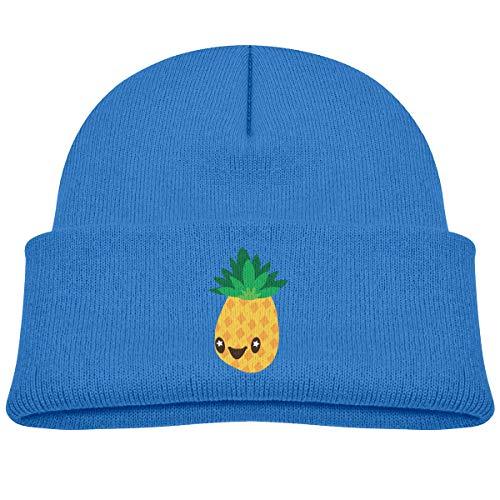 Laki-co Pineapple Cartoon Kid Knitted Beanies Hat Boys Girls Winter Hat Knitted Skull Cap Blue