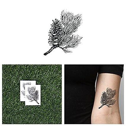 Tatuaje Temporal Tattify - Piña - Siempre verde (juego de 2 ...