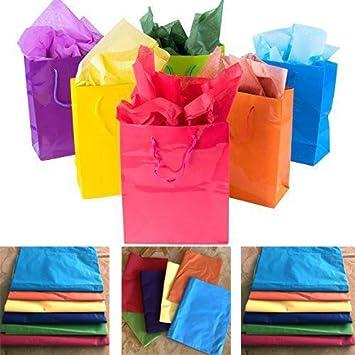 Amazon.com: Adorox - 12 bolsas de papel de regalo de colores ...