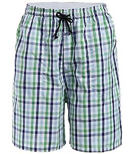 Latuza Men's Cotton Plaid Lounge Sleep Shorts