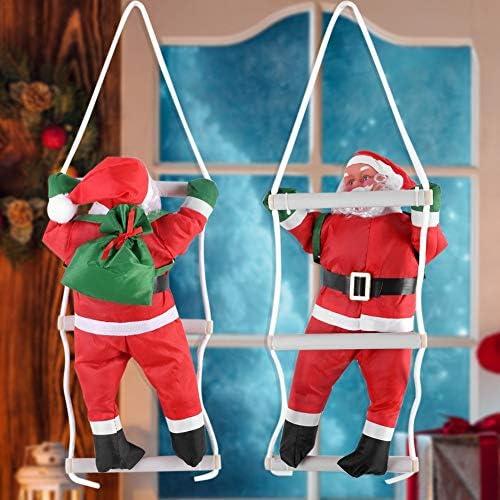 OKBY Santa Noel Decoración - Escalada Juguetes de Papá Noel, el árbol de Navidad de Interior/Exterior Colgantes decoración del Ornamento de Invierno de Navidad decoración de Interiores: Amazon.es: Hogar