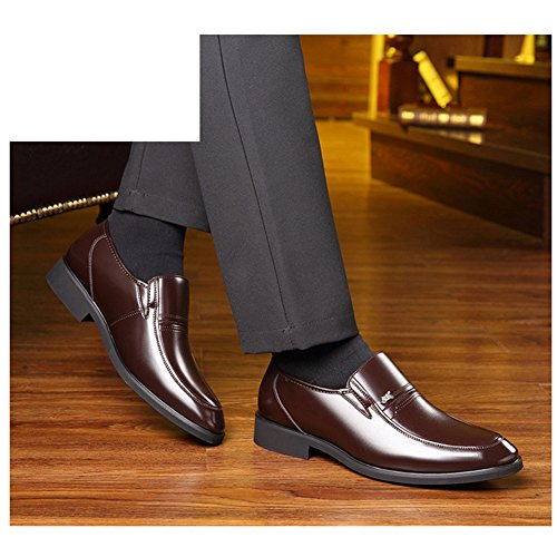 DeLamode Men Old People Leather Shoes Business Foot Sapatos Father Gifts Brown-38 by DeLamode (Image #4)