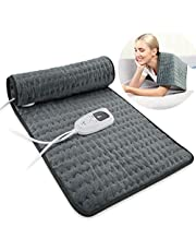 Heating Pad Electric Heat Pad, Hot Heated Pad,Moist Heat Heating Pad Moist and Dry Heat,Multiple Temp and Timer Settings - Auto Shut Off Function - Size 11.8x23.6in