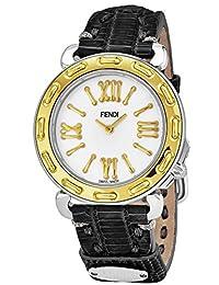 Fendi Women's Selleria 35mm Leather Band Swiss Quartz Watch F8001345H0.TS01