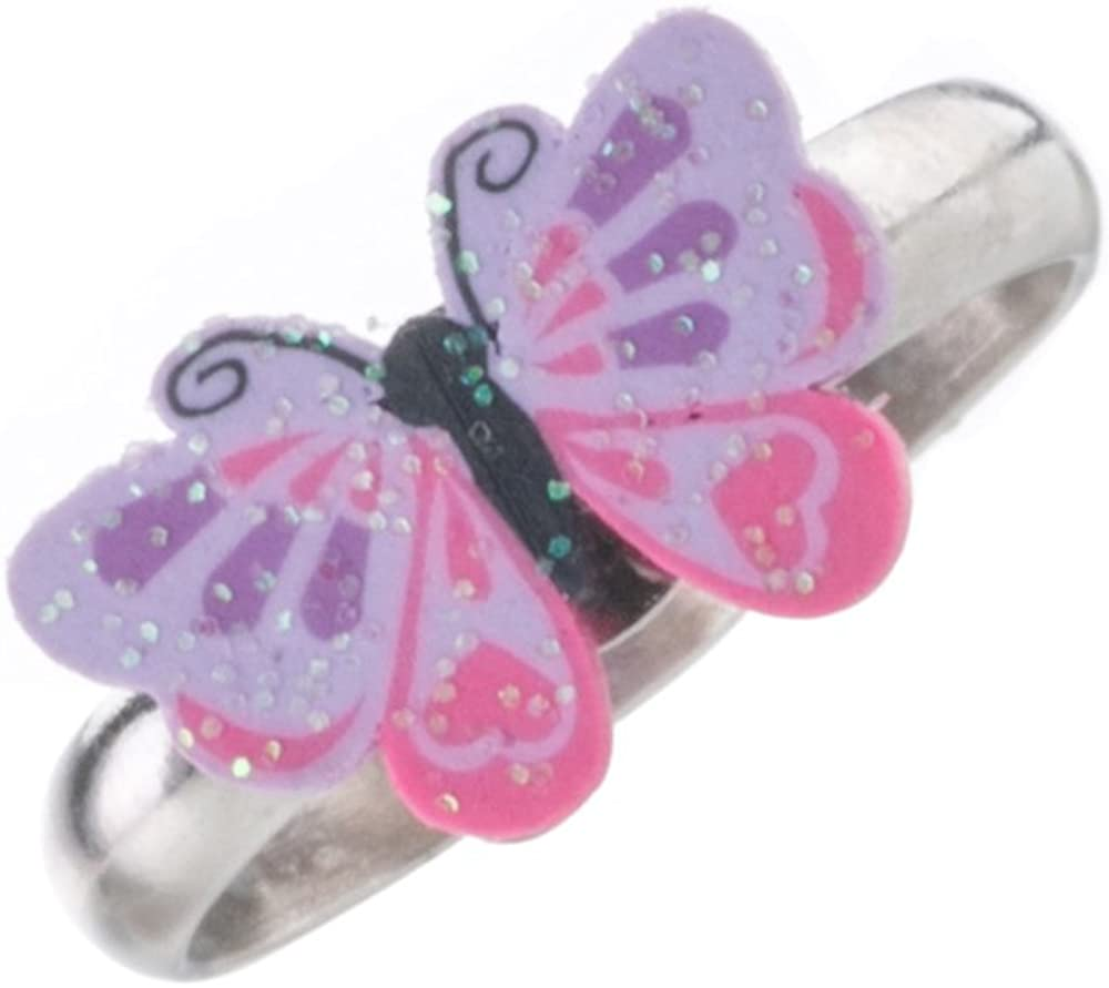 Colorful Cute Unicorn Adjustable Rings Set for Little Girls Butterfly Rings for Kids Childrens Jewelry Set