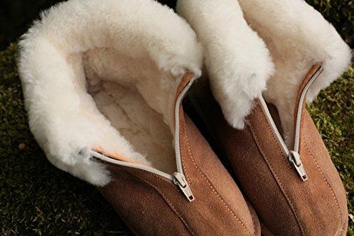 Piel de cordero para hombre mocassin Alaska II Beige