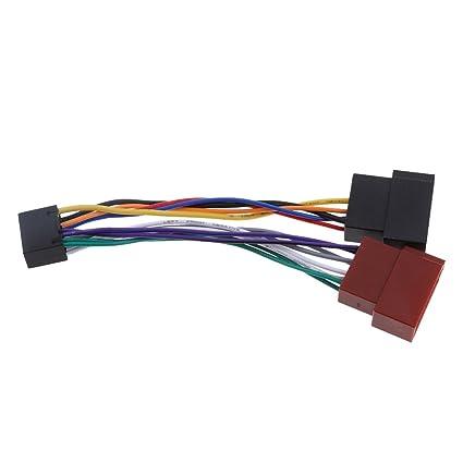 amazon com magideal 16 pin iso wiring harness adaptor car stereo rh amazon com
