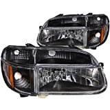 Anzo USA 111039 Ford Explorer Crystal with Amber Corner Black Headlight Assembly - (Sold in Pairs)