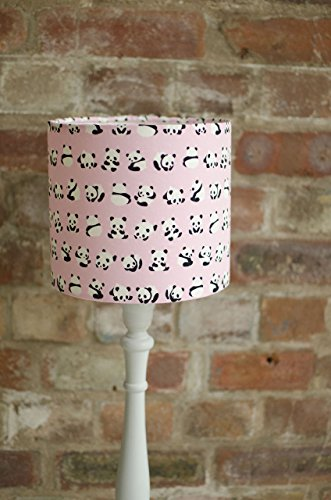 Pink panda lampshade by Shadowbrightlamps