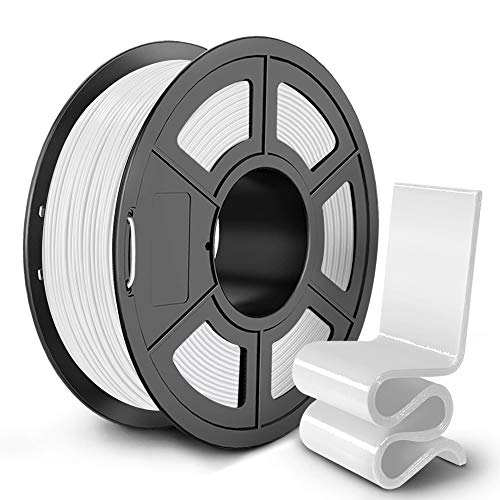 SUNLU PETG Filament 1.75mm for FDM 3D Printer 1KG(2.2LBS) PETG 3D Filament Accuracy +/- 0.02 mm, White