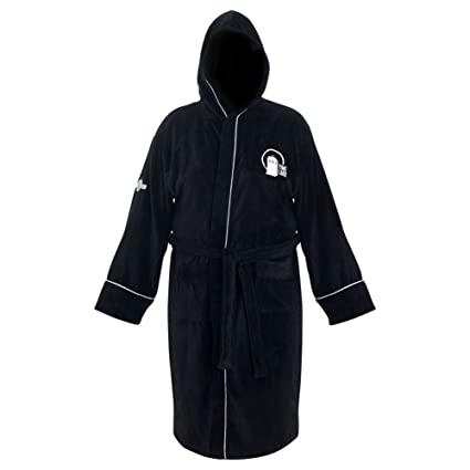 Image Unavailable. Image not available for. Color  Doctor Who Time Lord  Hooded Black Cotton Bath Robe ... 73f1e156f