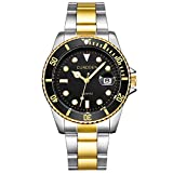 Mens Watches hessimy Mens Stainless Steel Quartz Analog Wrist Watch Men Fashion Casual Sport Wristwatch Luxury Brand Business Dress Watches
