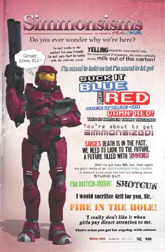 Red vs Blue: Simmonisms Poster