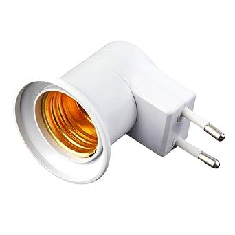2x E27 Lampenfassung Glühbirnensockel Konverter Adapter mit Netzstecker Schalter