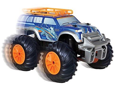 UPC 694202320075, Black Series Amphibious RC Vehicle Land & Water Rover (Blue,Orange)