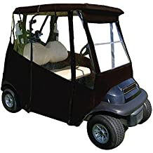 Portable Drivable Golf Cart Cover - Universal 2 Passenger Fit - Weather Cover for EZGO TXT RXV - Club Car Precedent DS - Rain Travel Cover for Golfer - Black - Tan - Blue - Green - Includes Travel Bag