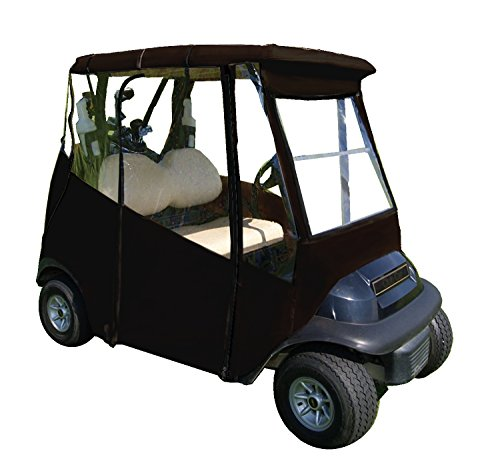 (4-Sided Universal Portable Drivable Golf Cart Cover (Jet Black))
