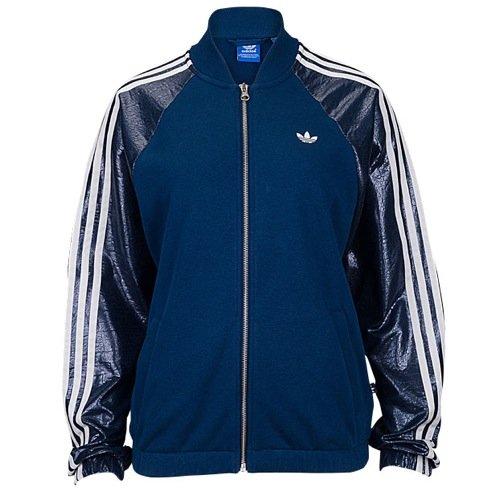 adidas Women's Paris Logo TT Blue AB2651 (SIZE: L) (Adidas Originals Tracksuit Women)