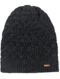 Fleece Lined Beanie Hat Mens Winter Solid Color Warm Knit...
