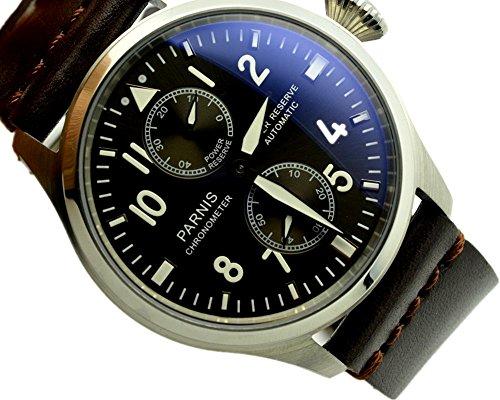 Parnis Automatic Power Reserve Mechanical Men's Watch Factory Wholesale