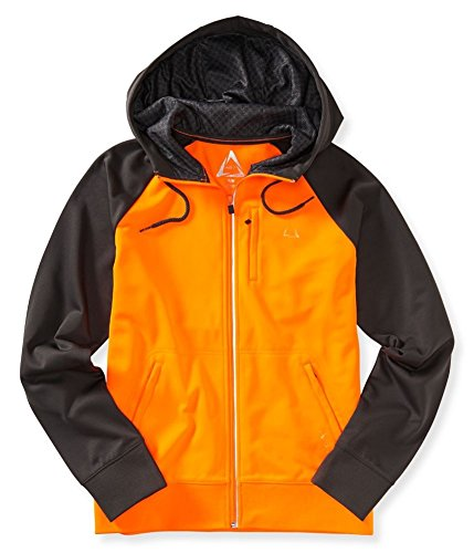 Aeropostale Mens Active Raglan Track Jacket, Orange, Large
