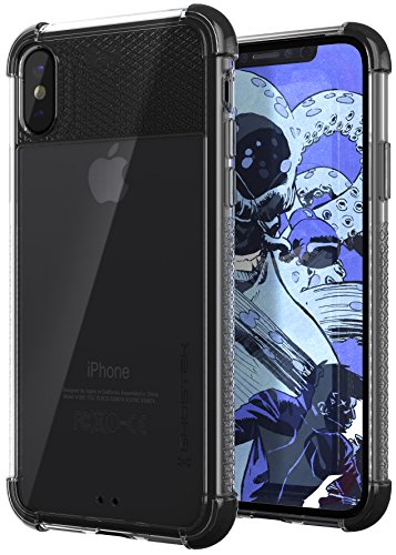 Ghostek Covert Rugged Armor Gel Design Case Compatible with Apple iPhone X XS - Black