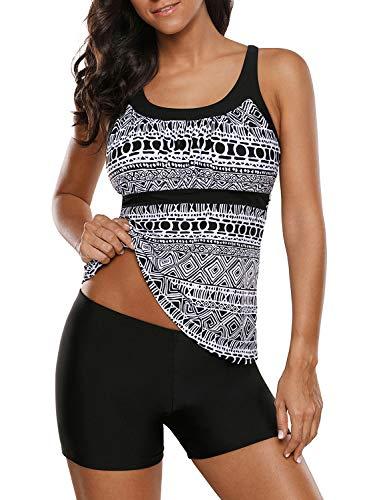 HOTAPEI Racerback Tankini Boyshort Swimsuit product image