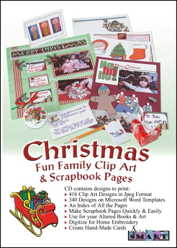 ScrapSMART - Christmas Family Fun Clip Art and Scrapbook Pages Software - 416 Designs and 340 Templates for Mac [Download] (Clothing Design Software For Mac)