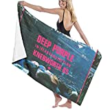 Maria D Miller Unisex Deep Purple in The Absence of Pink Family Big Bath Towel Multipurpose Bath Towel,Beach Towel