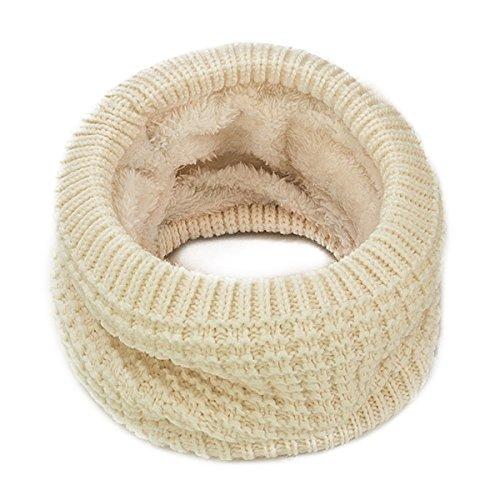bin lang Bufanda de Punto de Doble Capa de Forro Polar para Mujer y Hombre de Invierno, Gris, Talla única