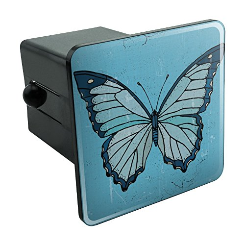 Graphics and More Butterfly Artsy Blue Tow Trailer Hitch Cover Plug Insert 2