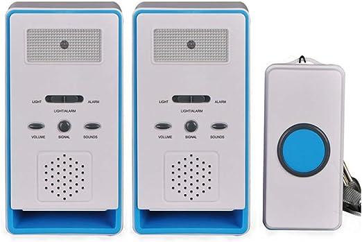 FUNRUI Sistema de alarma para el paciente timbre monitor de ancianos bot/ón de emergencia dispensador de cuidados personal para ancianos alarma inal/ámbrica con alarma para el hogar