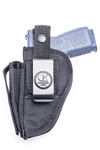 Outbags OB-02SC (RIGHT) Nylon OWB Belt Gun Holster with Mag Pouch for (Rifle Mag Pouch Belt Loop)