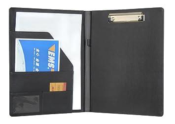5x Klemmbrett Mappe Schreibbrett Schreibplatte A5 PVC Folie schwarz mit Deckel
