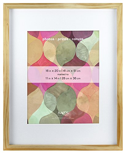MCS Art Frame 16x20-Inch Frame with 11x14 Inch Mat Opening, Natural (20 Natural)