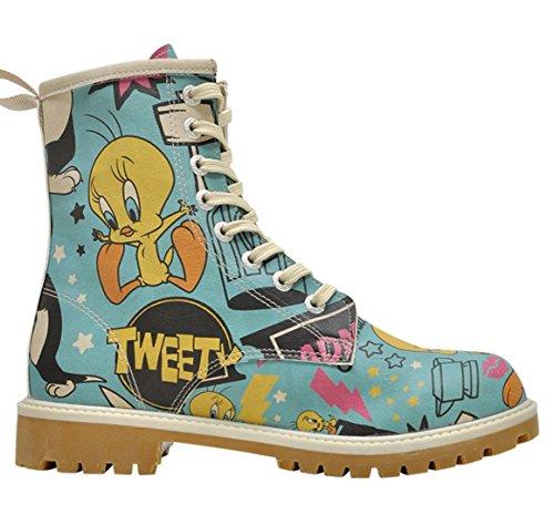Dogo Kvinder Tweety I Action Støvler Snøret Blå / Flerfarvede ca1pwfu